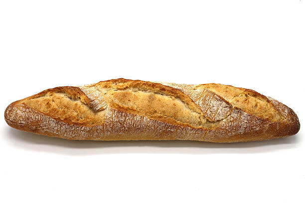 Crusty baguette stock photo