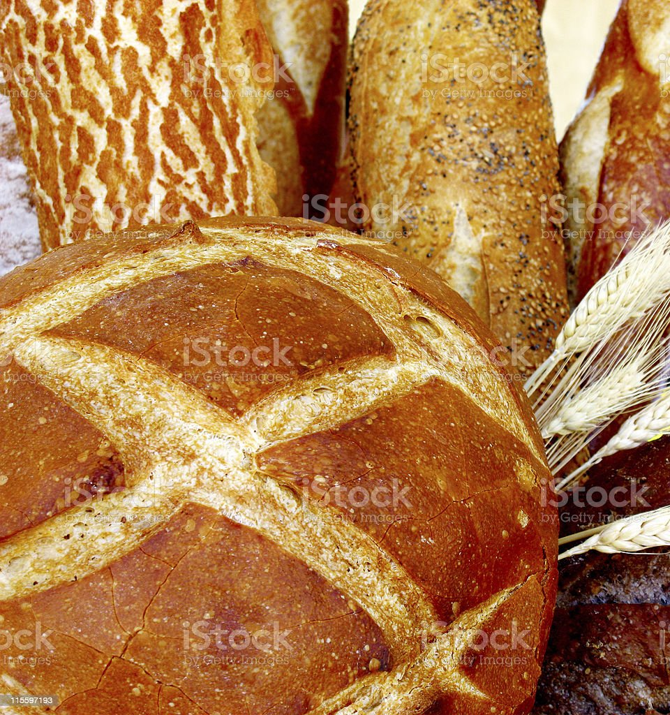 Crusty French Bread royalty-free stock photo
