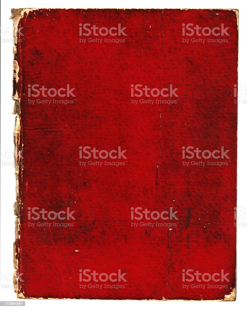 crusty red book royalty-free stock photo