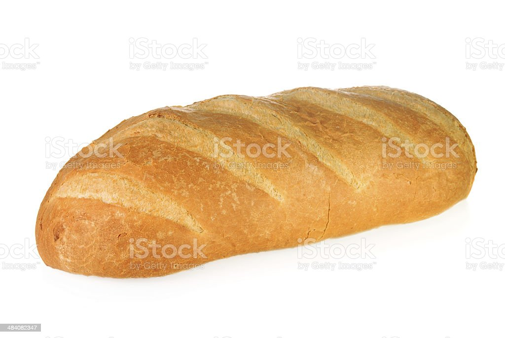 Crusty white bloomer bread stock photo