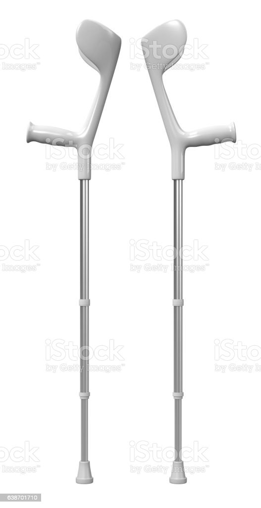 Crutch Isolated on White - Photo