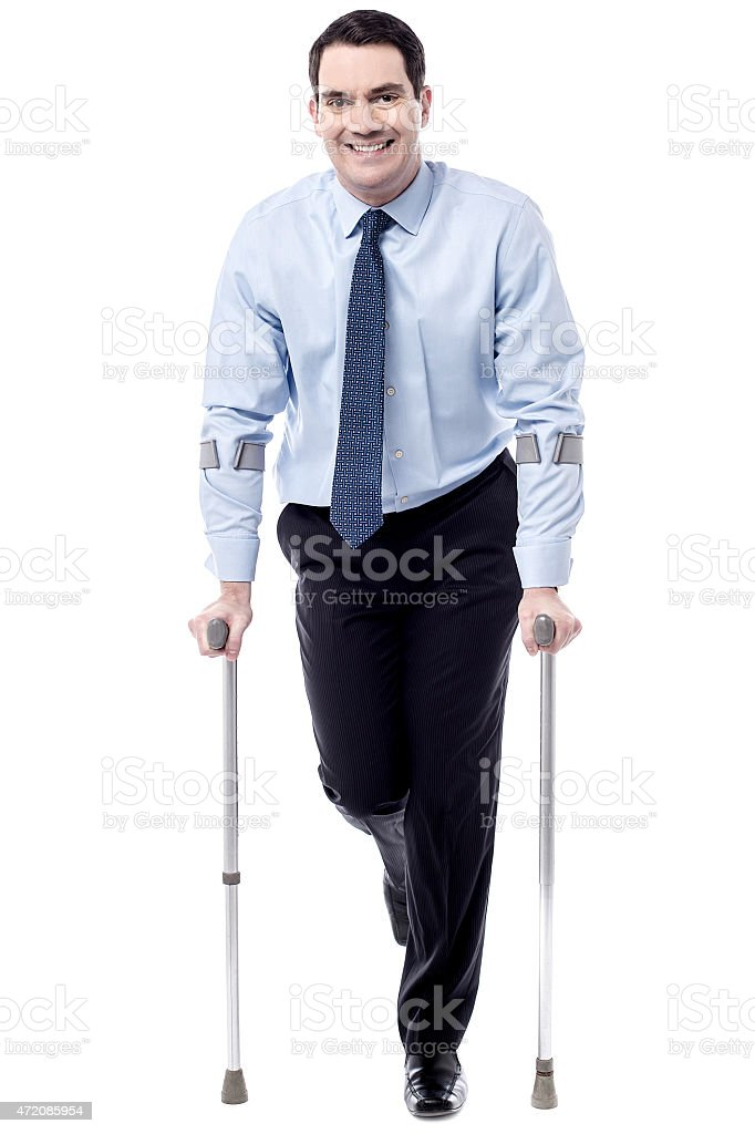 Crutches, help me to walk. royalty-free stock photo