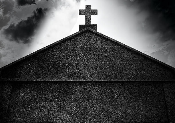 Crux on a Grave stock photo