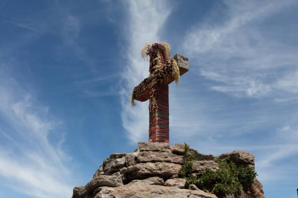 Cruz Condor in Peru stock photo