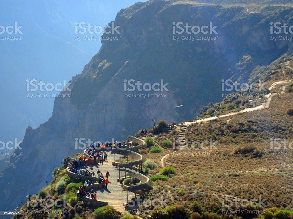 Cruz del Condor, Peru stock photo