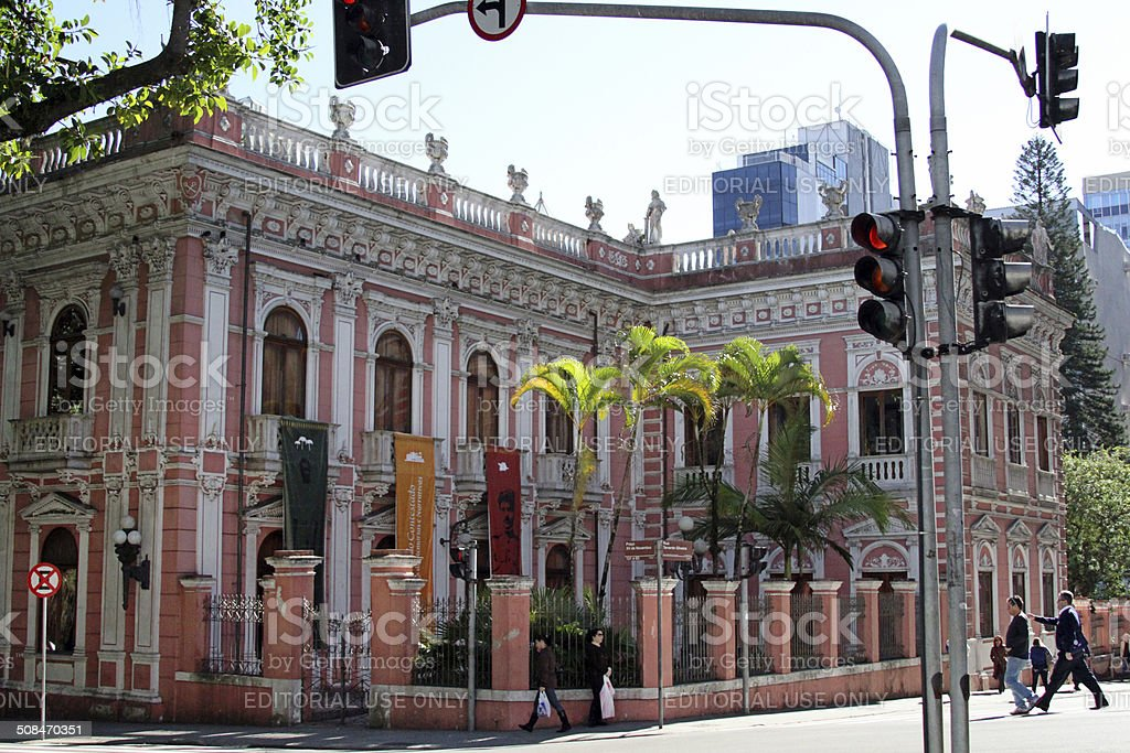 Cruz e Souza Palace stock photo