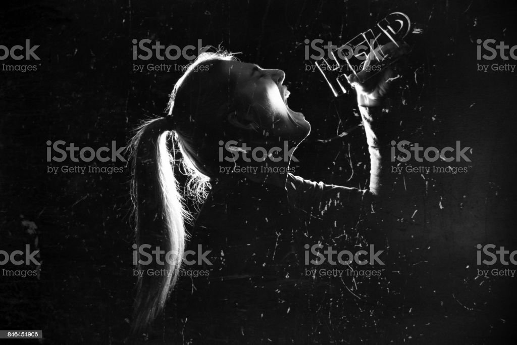 Cry For Help stock photo