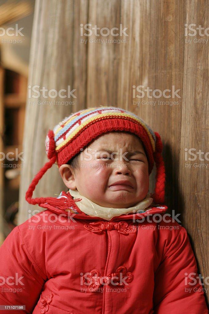 cry girl stock photo