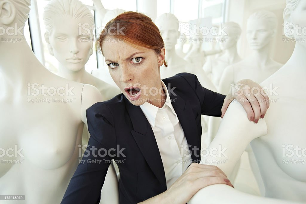 Cry in the crowd royalty-free stock photo