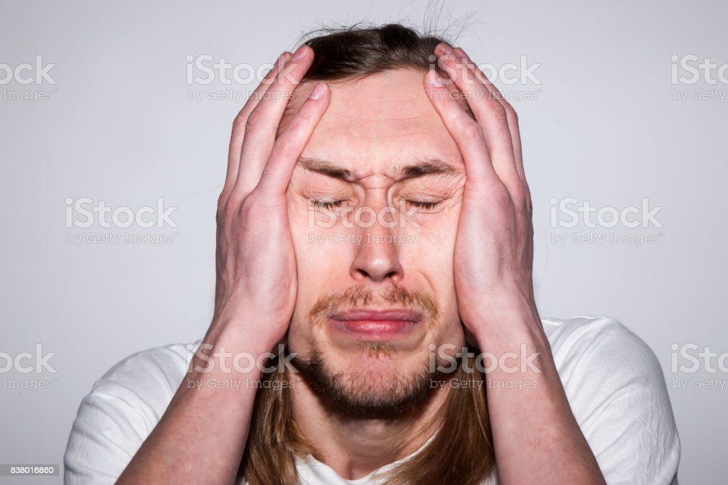 Crying Adult Male Troubles In Life Stock Photo - Download ...