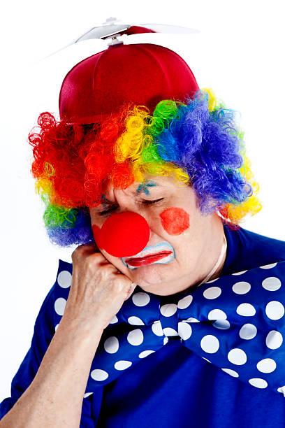 Crying and Pouting Clown stock photo