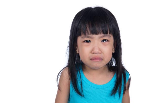 Closeup Portrait Of Sad Teenage Girl Against Sky High-Res