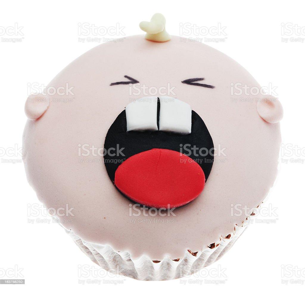 crying baby cupcake royalty-free stock photo
