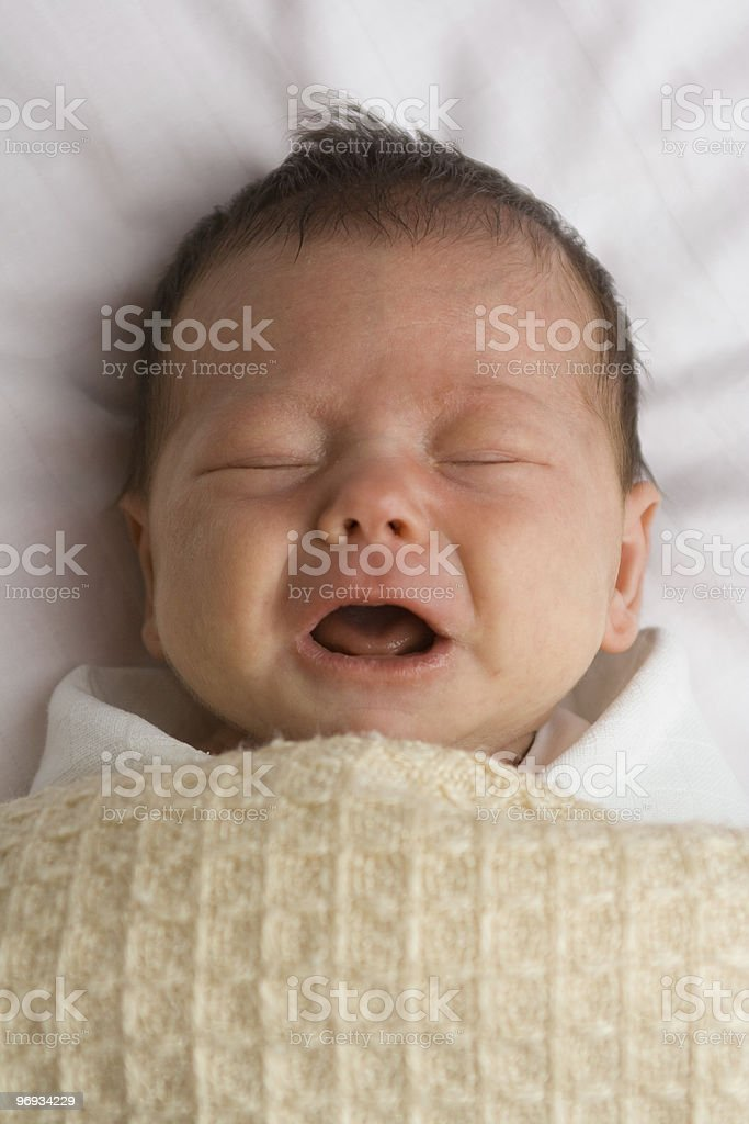 Crying baby girl royalty-free stock photo