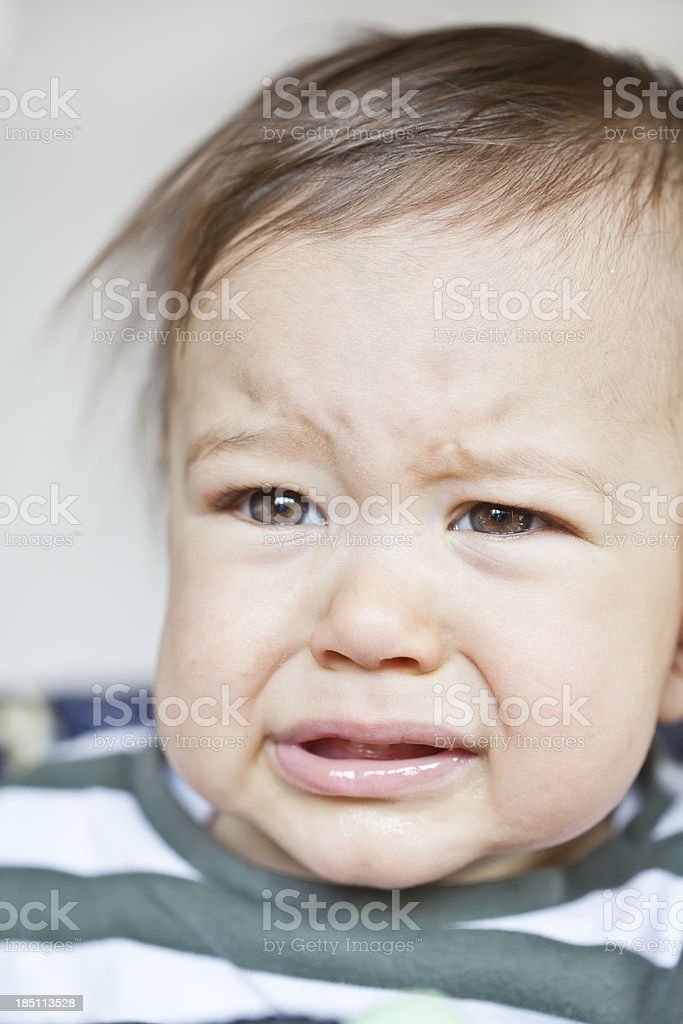 Crying baby royalty-free stock photo