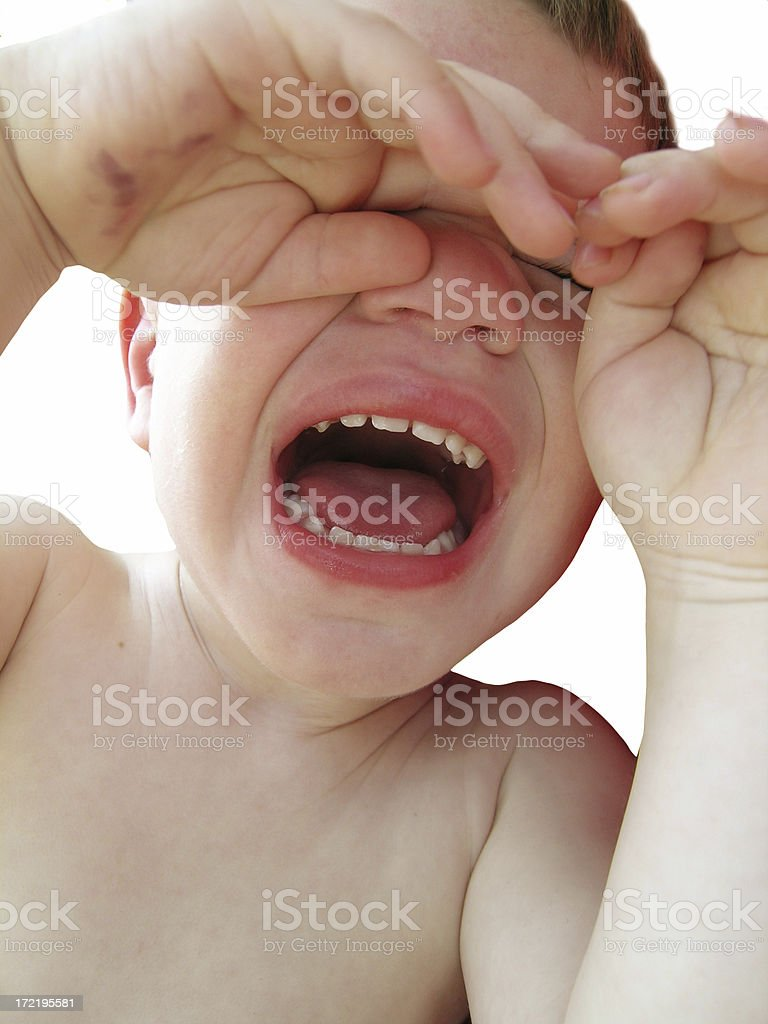 Crying boy royalty-free stock photo