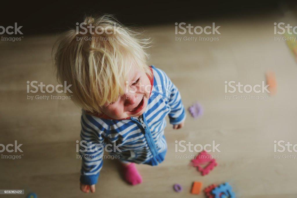 crying child, depression and sadness crying child, depression and sadness, anger and despair Abuse Stock Photo