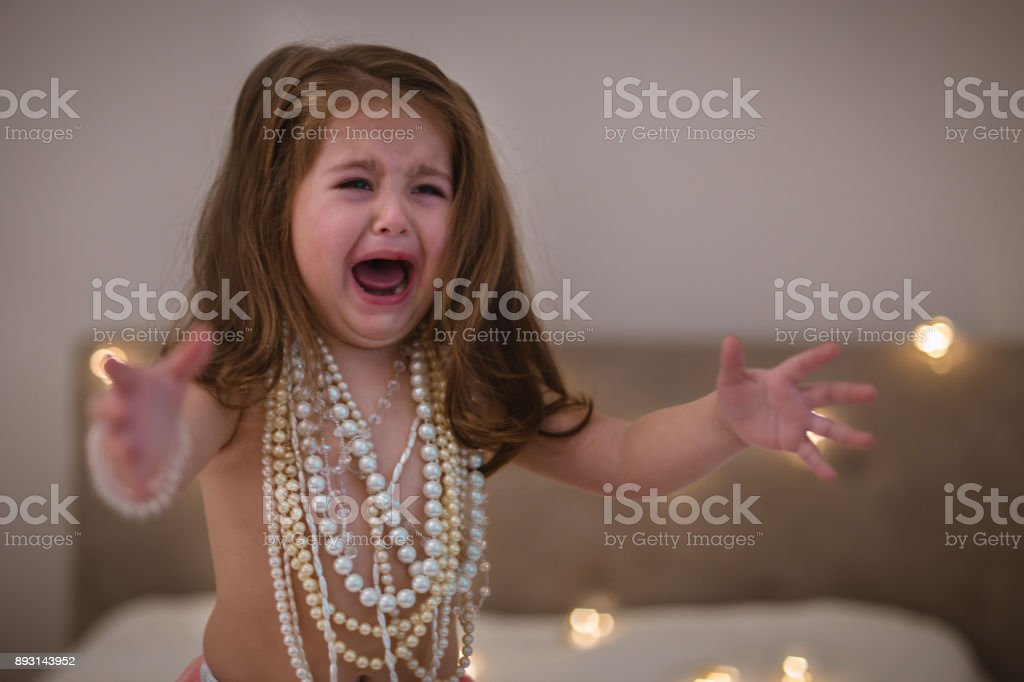 Crying for my mommy stock photo