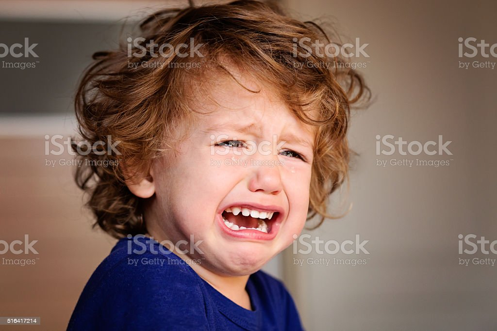 Crying Little Baby Boy stock photo