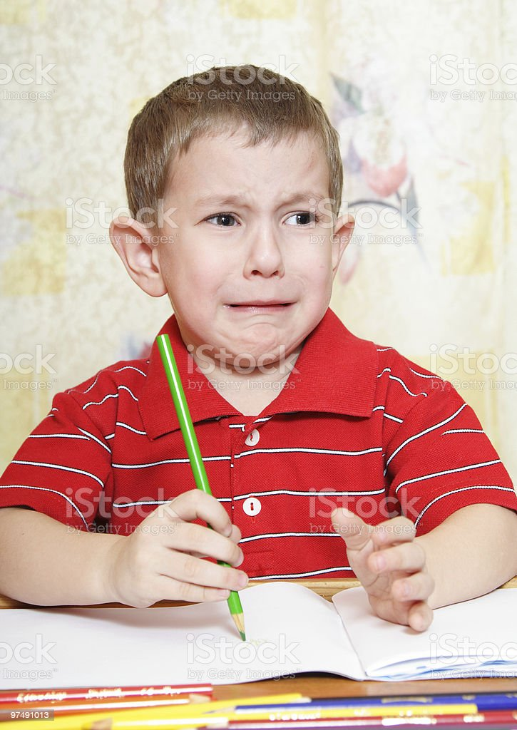 Crying little boy royalty-free stock photo
