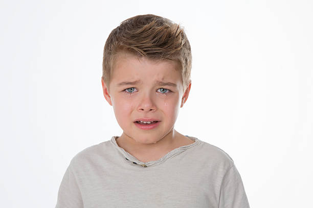 crying little child stock photo