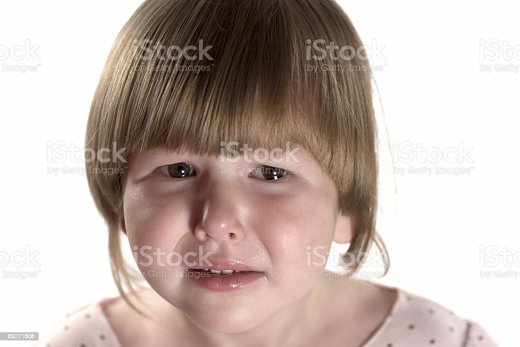 Crying Little girl royalty-free stock photo