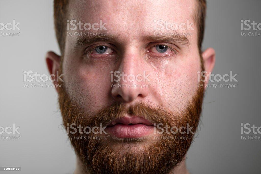 Crying Man stock photo