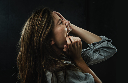 487960859 istock photo Crying out in desperation 487922705