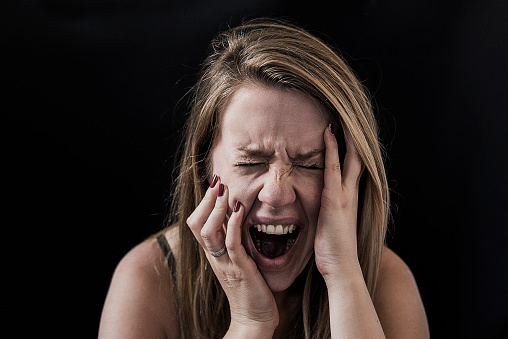 487960859 istock photo Crying out in desperation 694254006