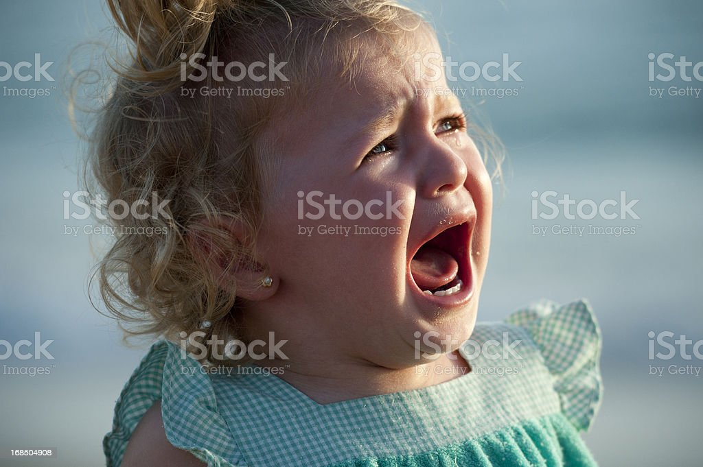 Crying royalty-free stock photo