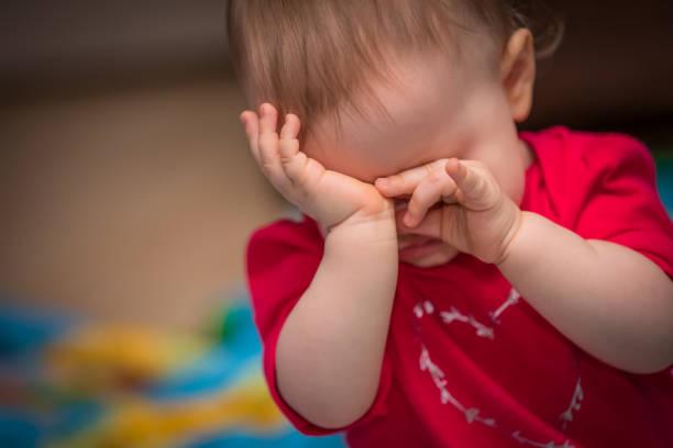 Crying stock photo