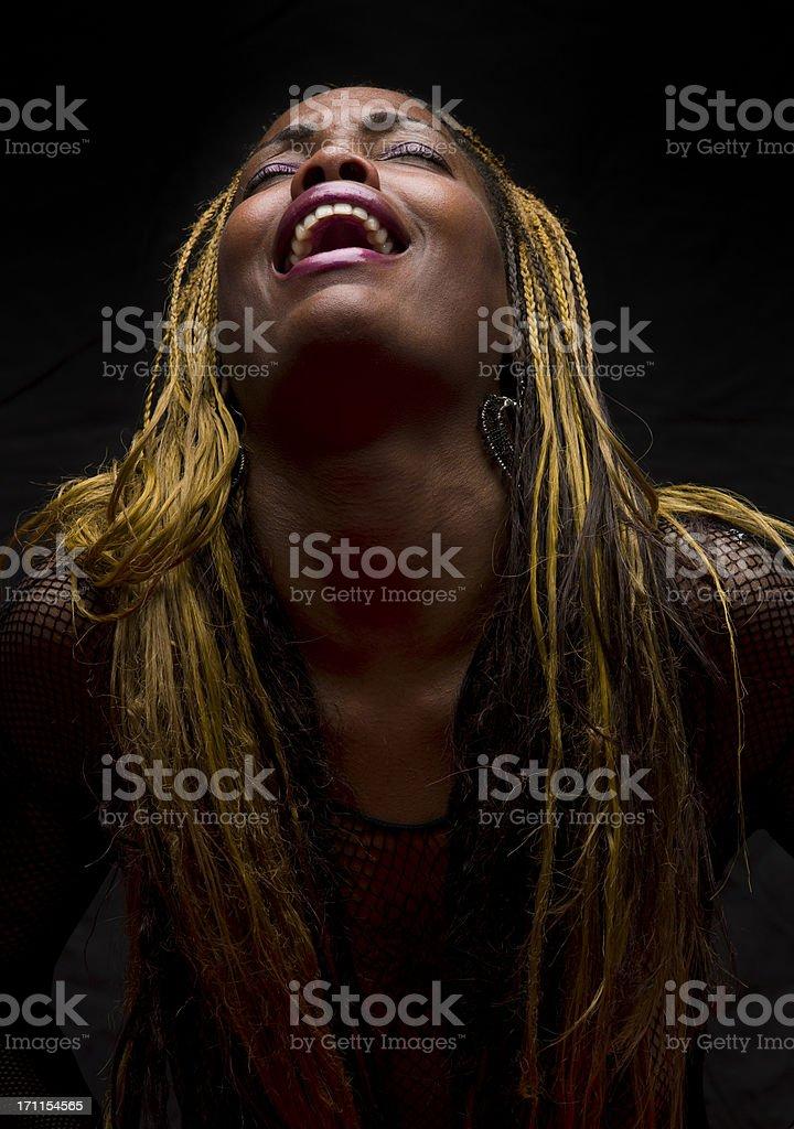 Crying singing stock photo