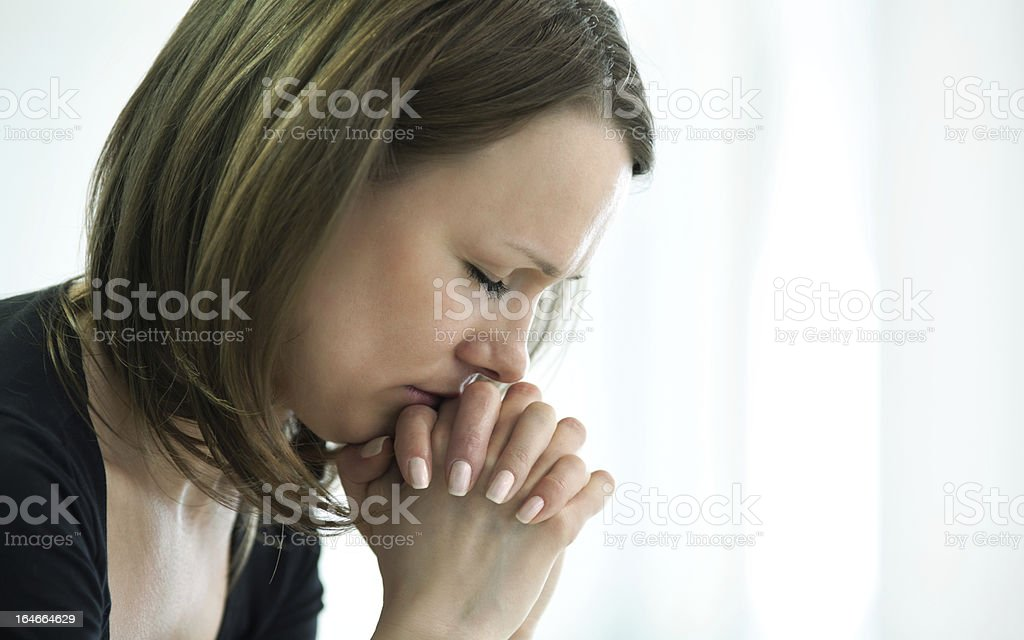 crying woman royalty-free stock photo
