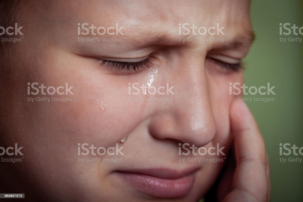 Crying Young Boy - Royalty-free Abuse Stock Photo