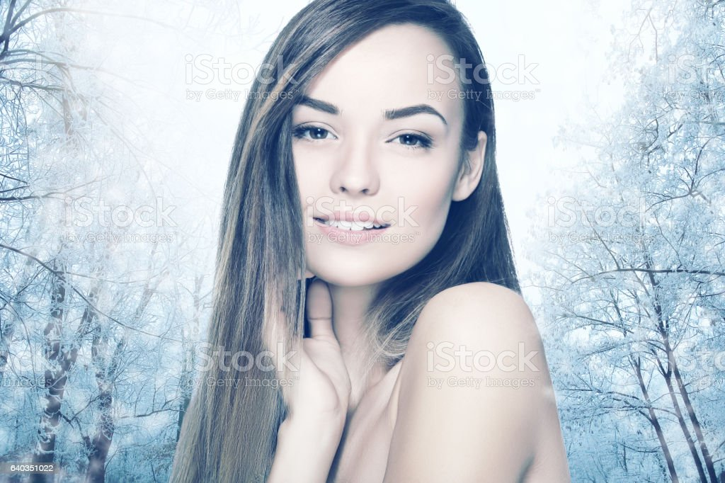 Cryotherapy woman concept stock photo