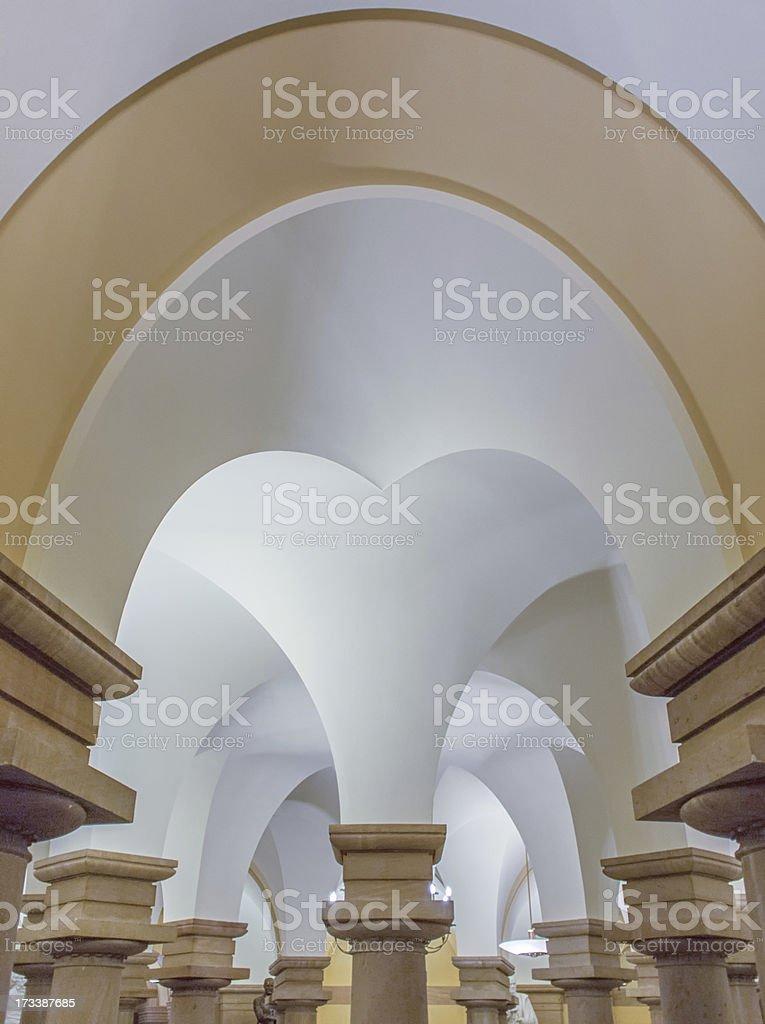 Crypt Arch Symmetry stock photo
