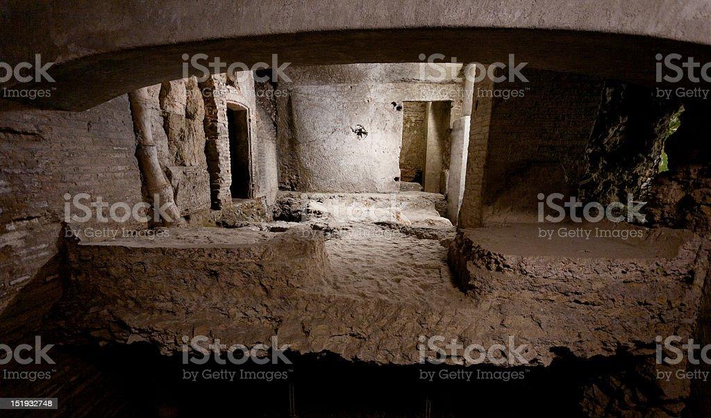 Crypta Balbi Crypt Archeological Site in Rome stock photo