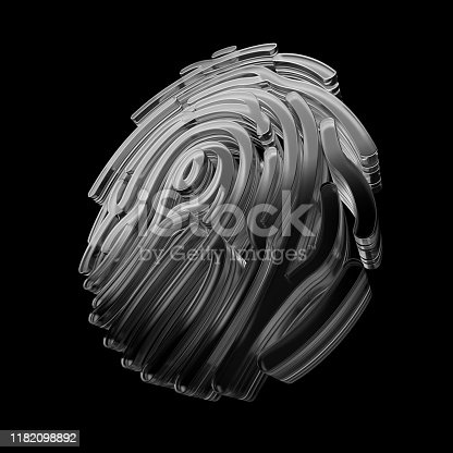 istock Crypto and security concept. Finger identification symbol. 1182098892