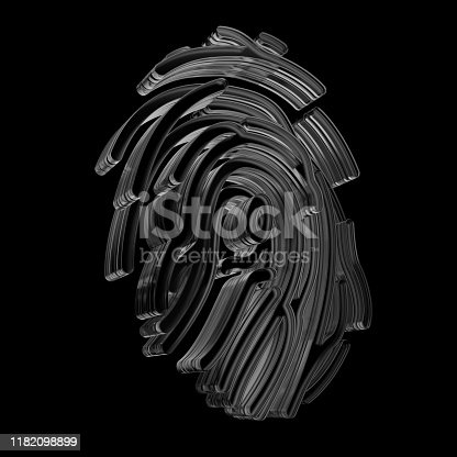 istock Crypto and security concept. Finger identification symbol. 1182098899