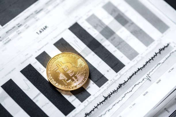 Criptodivisas técnicas de Trading - foto de stock