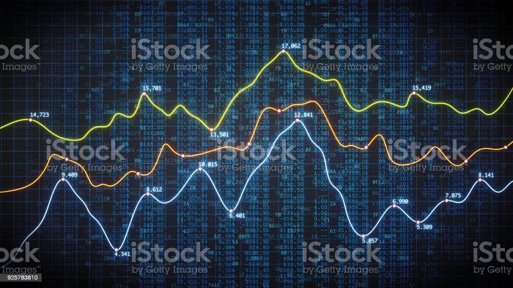 Krypto Finanzkennzahlen mit Tabellendaten – Foto