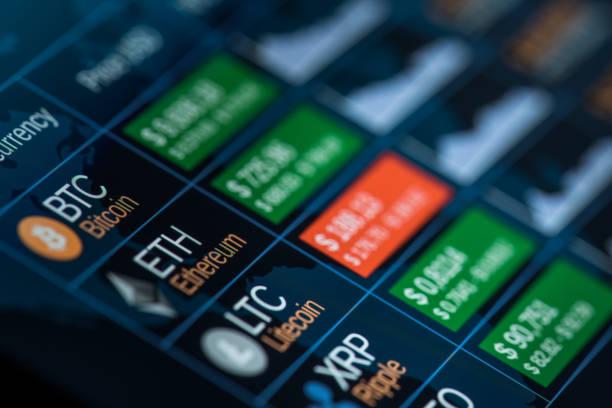 Cryptocurrencies stock photo