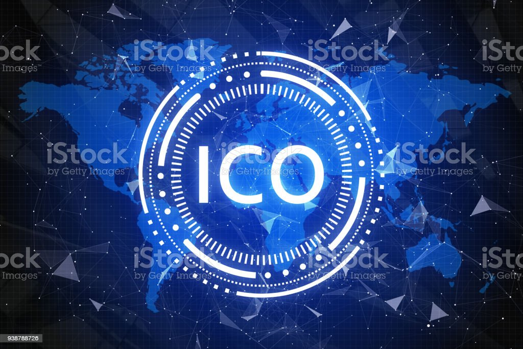 Cryptocurrency and global e-commerce wallpaper stock photo