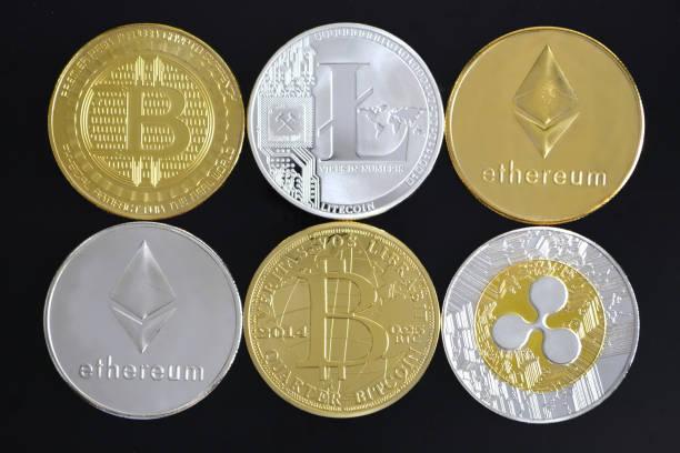 cryptocurrency fond. - éther photos et images de collection