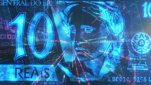 Cryptocurrency Brazil stock photo