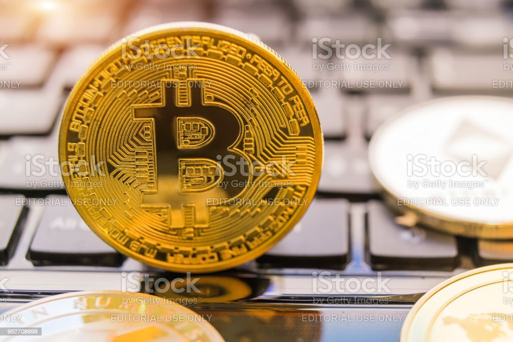 Cryptocurrency Coins Bitcoin Litecoin Ethereum Ripple
