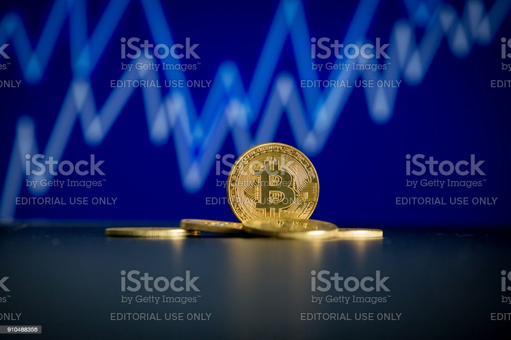 Crypto-currency concept stock photo