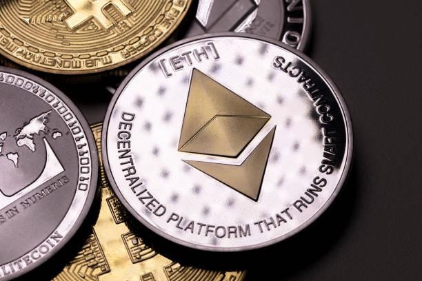 cryptocurrency: ethereum stock photo