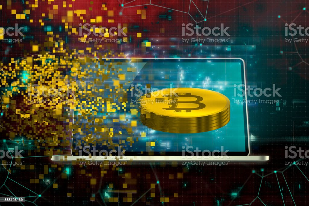 cryptocurrency mining stock photo