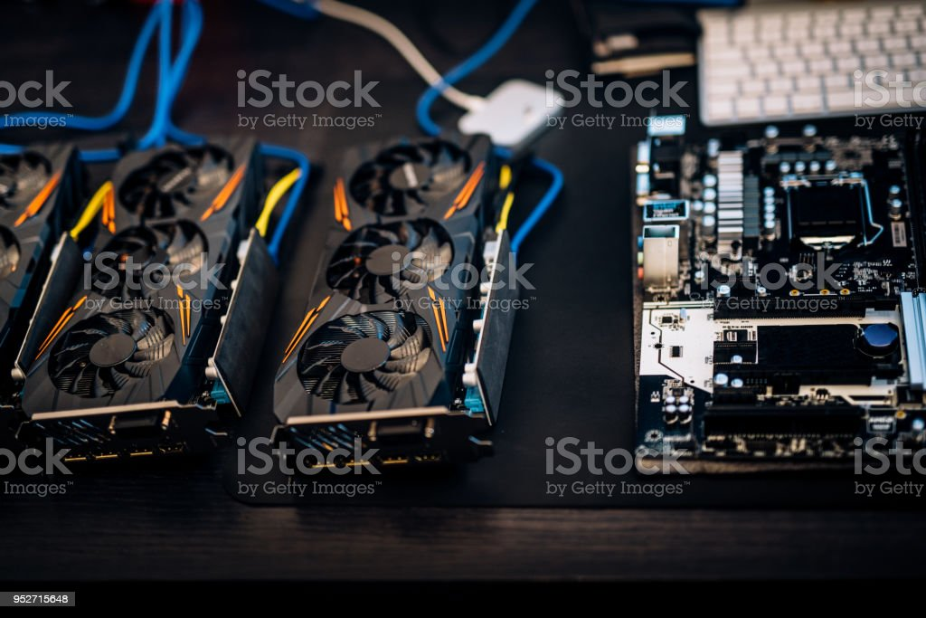 Cryptocurrency Mining Rig Components Graphic Cards To Mine